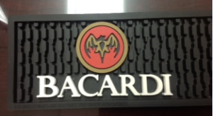 Custom Bacardi Bar Mat
