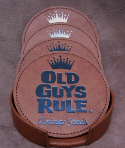 Custom Debossed Leather Coasters